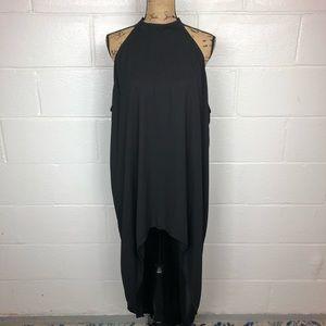 Torrid black high low lined high neck dress 3X